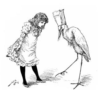Bolles Köche - Mädchen + Storch